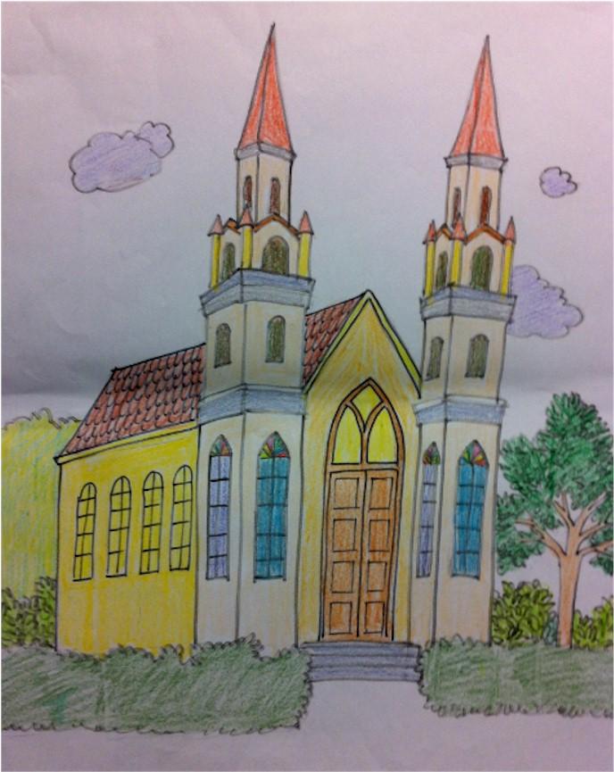 s少儿水粉画作品-文 双语 班和儿童绘画班全年上课Bilingual Preschool